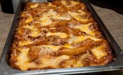 Lasagna on Tray