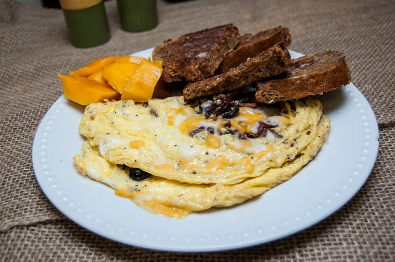 Mushroom and Cheese Omelet